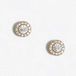 J.CREW Glimmer Crystal Stud Earrings Formal Bride